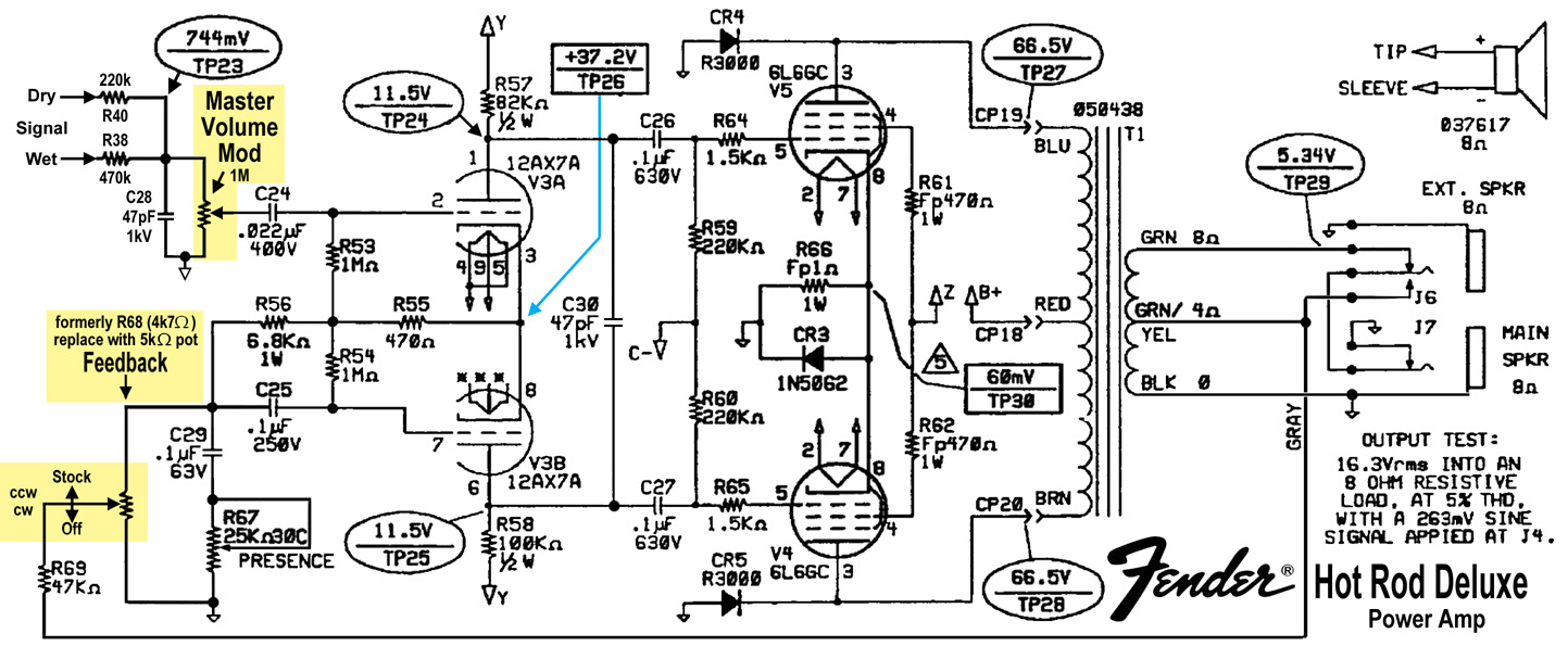 Fender Hot Rod Deluxe Mods Part-2 on electric guitar wiring diagrams, bass guitar amp wiring diagrams, guitar pickup wiring diagrams,